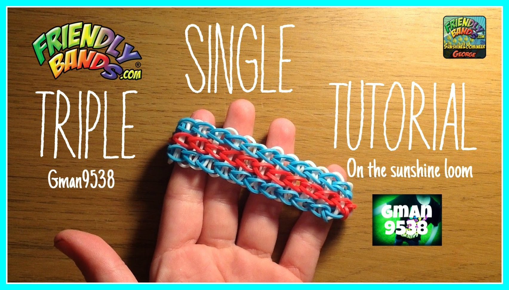Triple Single Tutorial! | Sunshine Loom | Gman9538