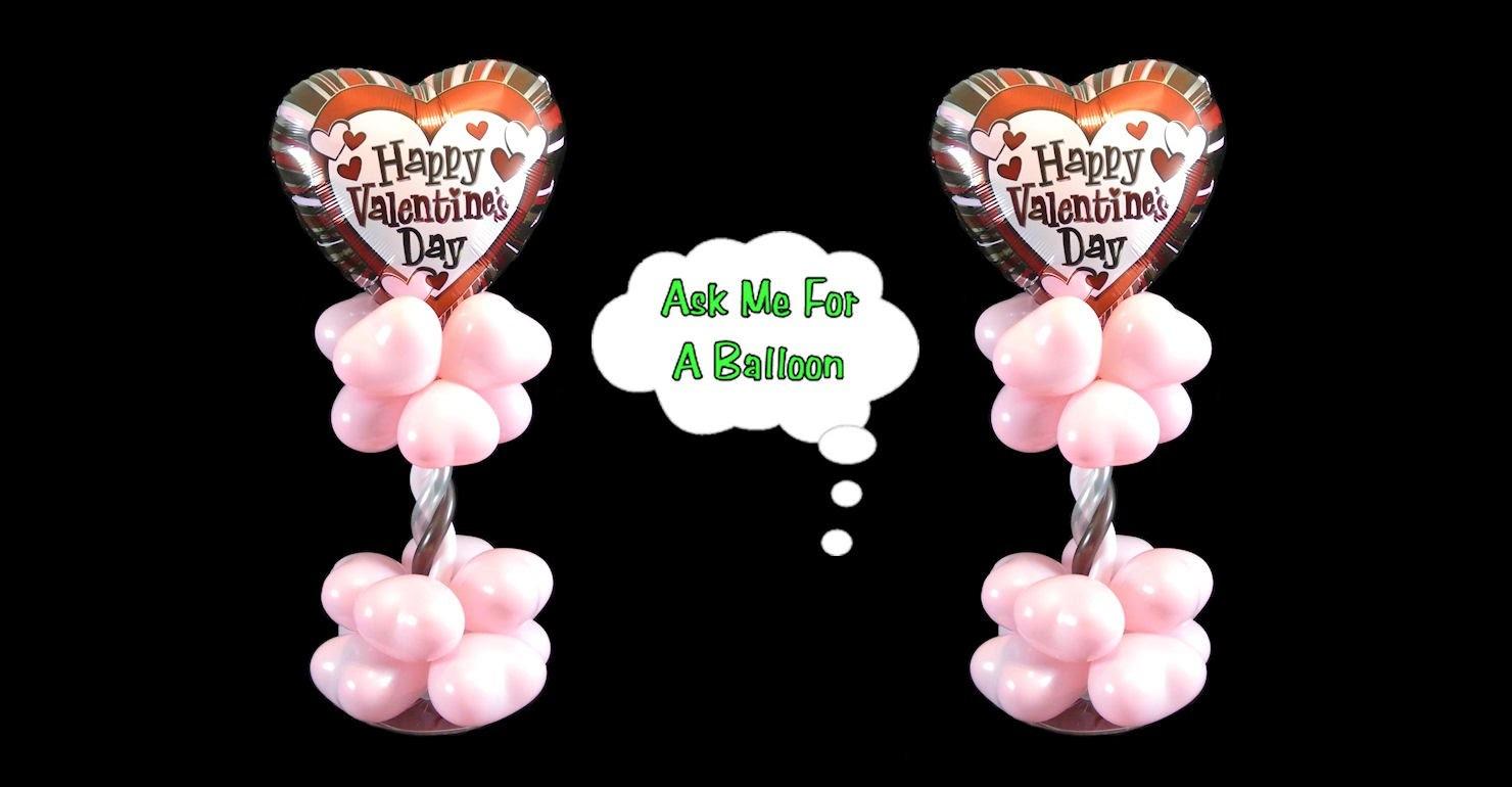 Valentine's Day Balloon Centerpiece - Balloon Decoration Tutorial