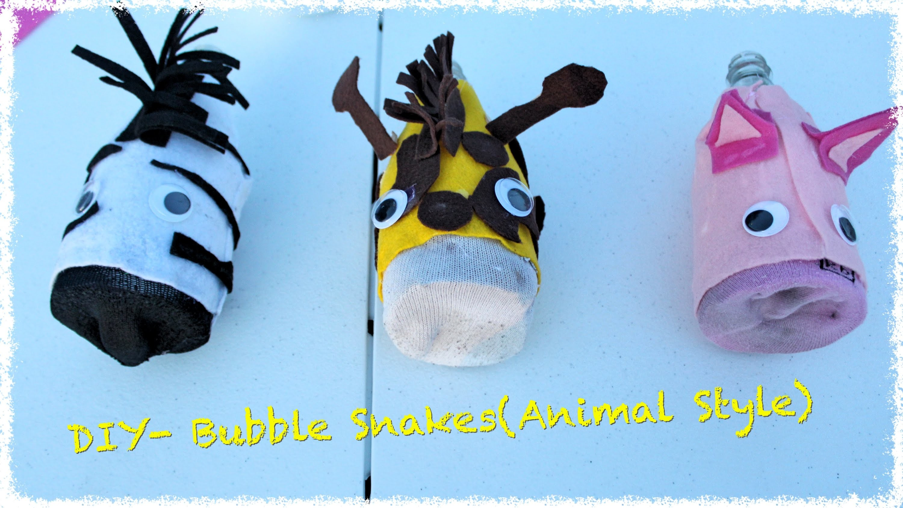 Daddy Do's and Don'ts- DIY Bubble Snake (Animal Style)