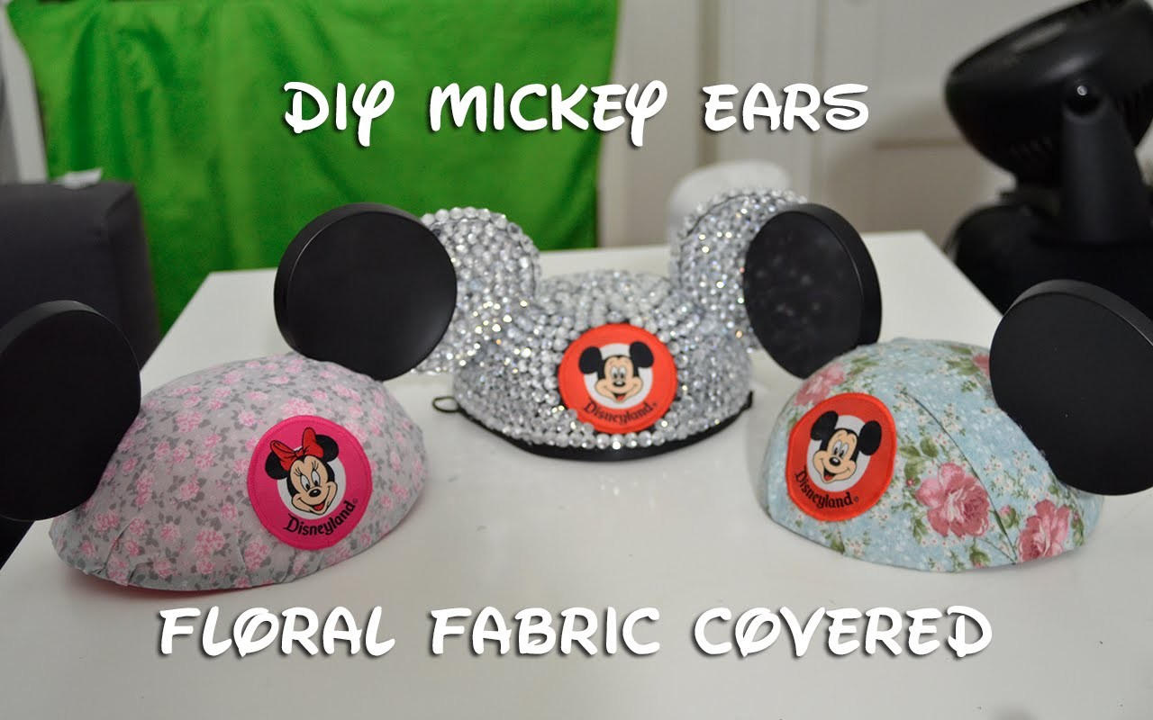 Disney DIY: Floral Fabric Mickey Ears (10.13.14 - Day 43)