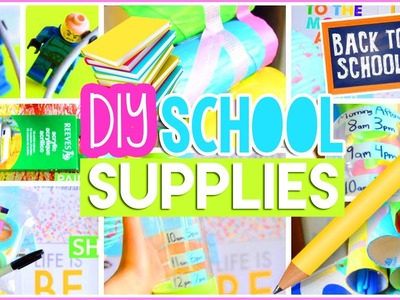 ♡ DIY Back to School Supplies: Room Decor, Organization + Life Hacks! Easy & Cheap | AlohaKatieX ♡
