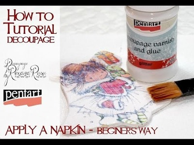 DIY Decoupage tutorial  - how to apply a napkin - easy technique