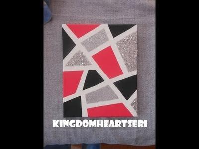 DIY:Geometric Glitter Canvas (by KHERI)