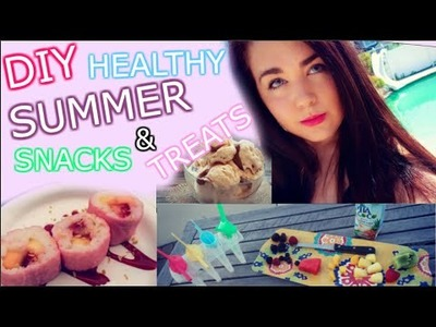 ☼DIY Healthy Summer Snacks + Treats! DIY Ice Cream + Fruit Sushi!☼
