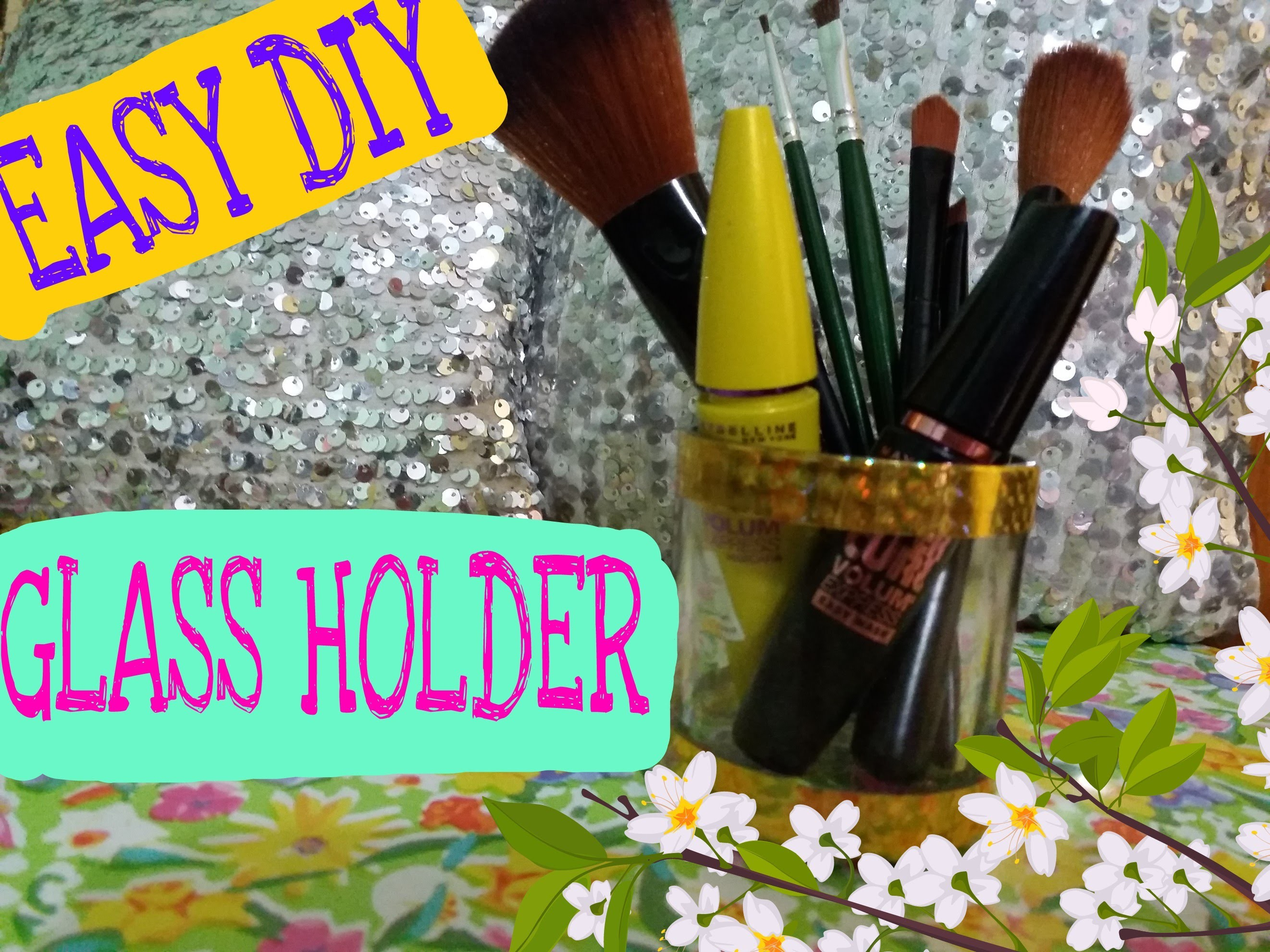 DIY  less than 2MIN  MAKEUP HOLDER OR PEN HOLDER -BEST OUT OF WASTE * Recycling*