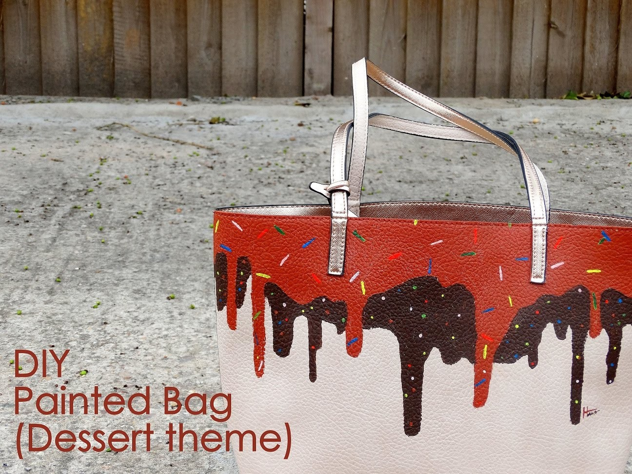 DIY- Painted Bag (Dessert theme)
