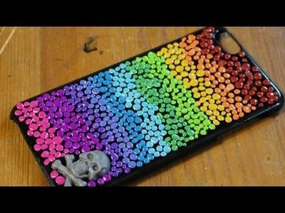 DIY: Rainbow Dots Phone Case