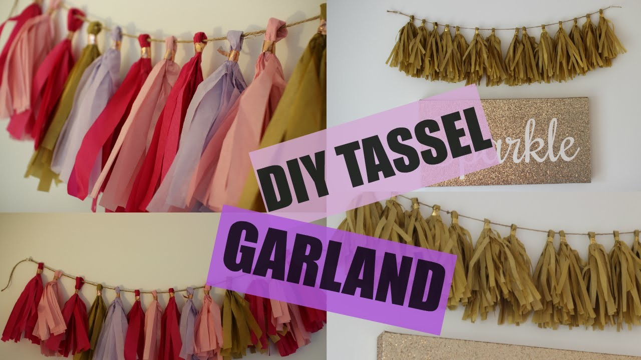 DIY Tassel Party Garland - Tissue Paper