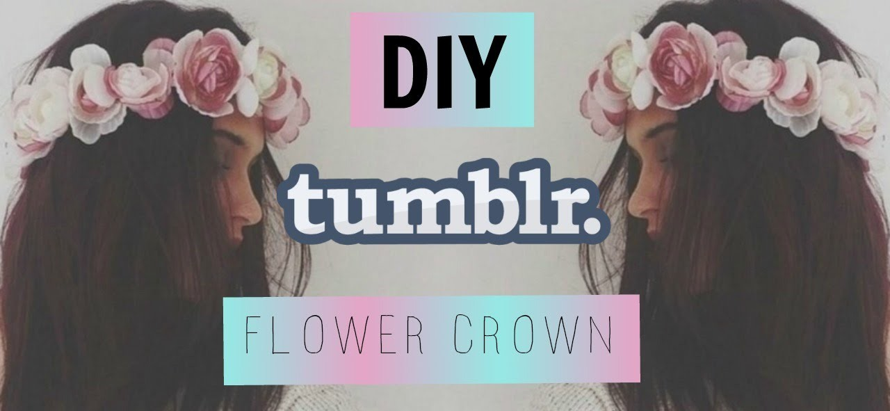 Easy Diy Tumblr Flower Crown || First YouTube Video