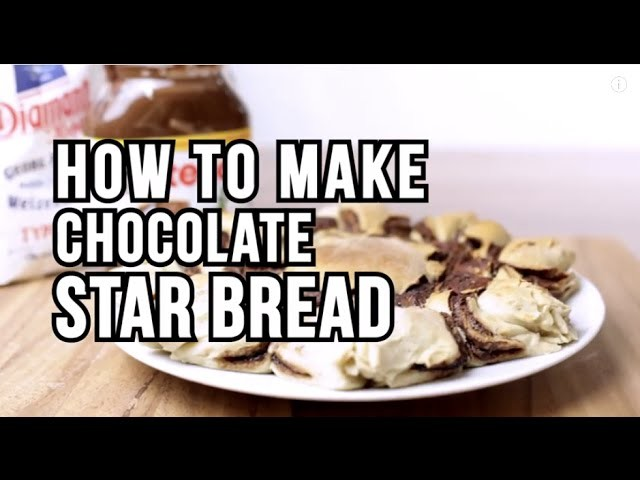 How to make chocolate star bread! - DIY