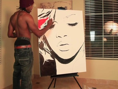2013 new Rihanna ((THE BEST painting)