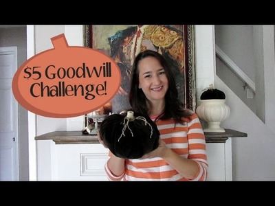 $5 Goodwill Challenge: Fall Edition • DIY Velvet Pumpkins