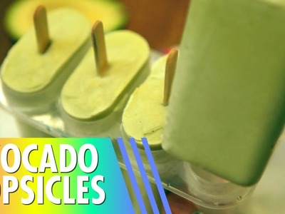 Avocado Popsicles. DIY + Only 3 Ingredients!