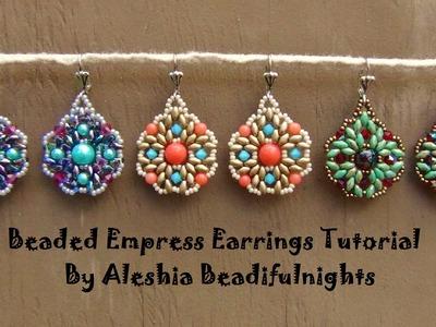 Beaded Empress Earrings Tutorial