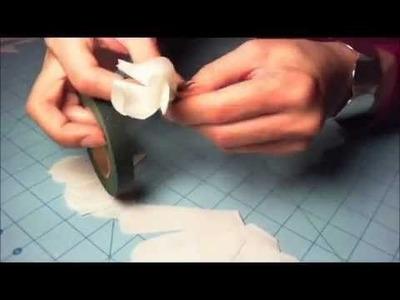 Coffee filter rose tutorial