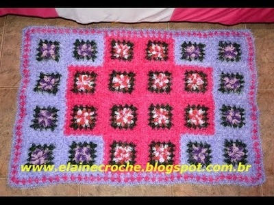CROCHE - TAPETE PINK DOO 2ª PARTE - FINAL