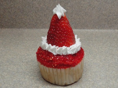 Decorating Cupcakes #81: Santa Claus Hat