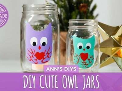 DIY Cute Owl Jars - HGTV Handmade