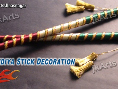 DIY How To Decorate Dandiya Sticks  for Navratri Garba - JK Arts 385