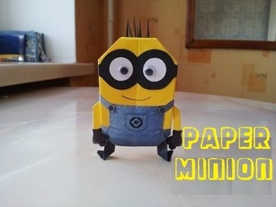 DIY - How to make an origami Minions - EASY Tutorial
