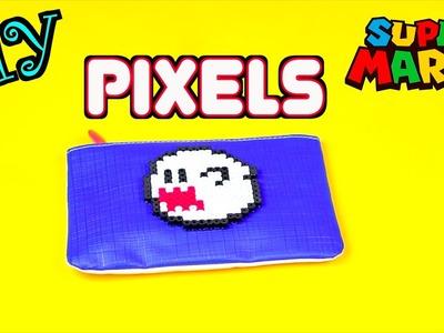 DIY Perler Beads Creation - Super Mario Ghost Boo Pixels Tutorial for Halloween