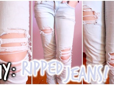 DIY: Ripped Jeans | Daniela ♡