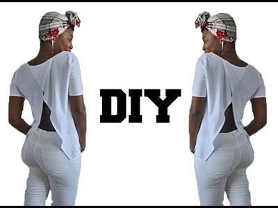 DIY.  Split Back Top ( Easy Sewing)