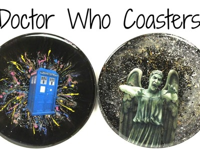 Doctor Who DIY Tardis and Weeping Angel Coasters ~  Another Coaster Friday Craft Klatch