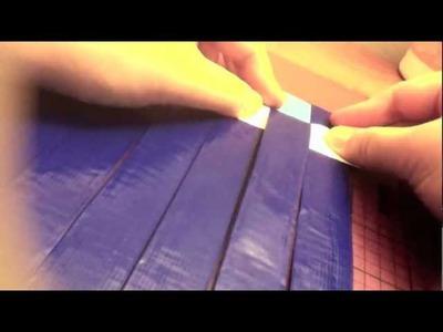 Duct Tape Woven Women's Wallet Part 1