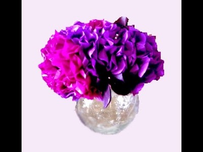 Easy to do! Tissue (crepe paper) flower! Great ideas for Easter - paper bouquet