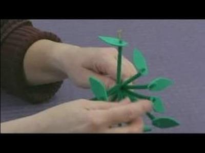 Foam Flower Crafts for Kids : Arranging Tiny Flower Crafts
