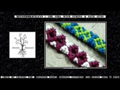 ► Friendship Bracelet Tutorial - Beginner - Hollow Infinity