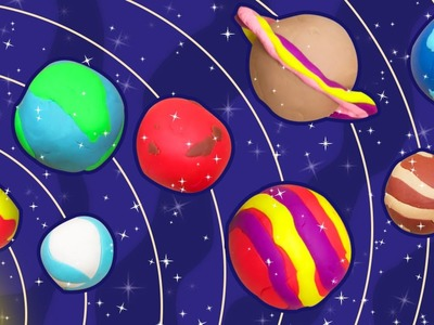 Fun with Play Doh | How to Make Play-Doh Planets  | Easy DIY Play Doh Creations