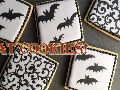 How To Decorate Bat Cookies With Royal Icing!