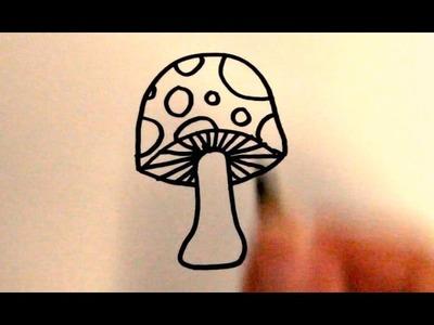 How to Draw a Cartoon Mushroom