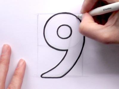 How to Draw a Cartoon Number 9