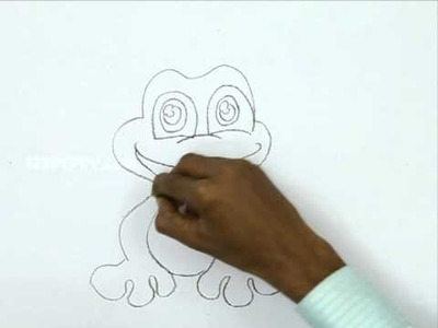 How to Draw a Cute Frog