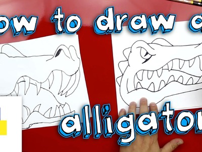How To Draw An Alligator (Florida Gators Mascot)