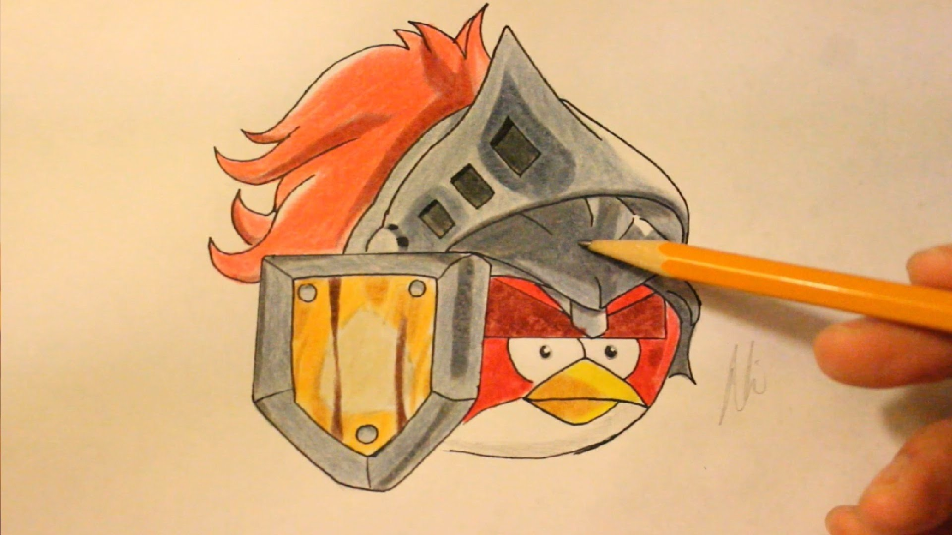 How To Draw Angry Birds Epic Red Bird