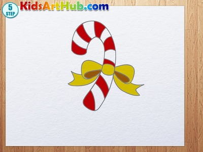 How to draw Christmas Candy