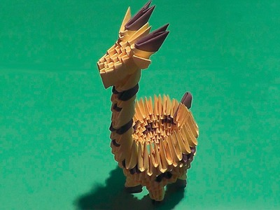 How to make a paper giraffe with his own hands