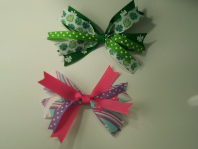 How To Make A Ribbon Spikes Hair Bow using miniBowdabra