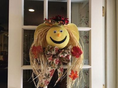 How to make a scarecrow face out of a straw hat tutorial