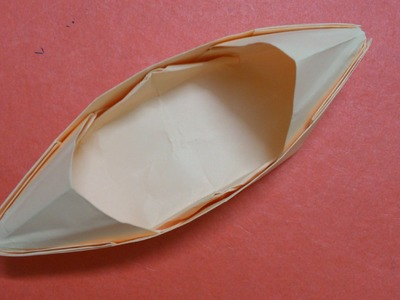 How to make an origami Sampan Boat with shelter
