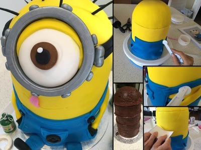 How to make. bake a Despicable Me Minion cake step by step tutorial ~ Part 1