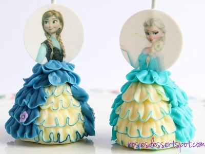 How to make frozen cake pops. Princess cake pop dress tutorial