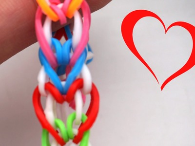 How to Make Heart Love Rainbow Loom Bracelet without loom on 2 Disney Minnie Pencil DIY