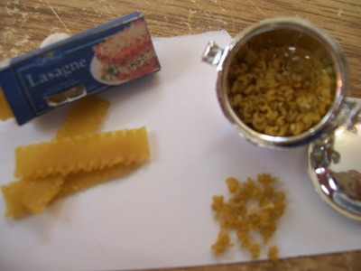How To Make Miniature Dollhouse Lasagna Noodles and Spiral Noodles