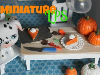 LPS Diy How to make miniature Pumpkins and Pumpkin pie