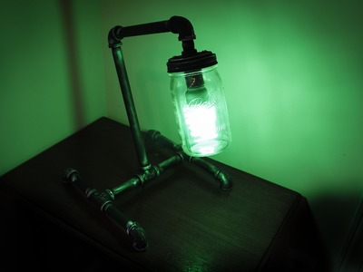 Mason Jar Pipe Lamp